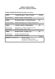 School Term Dates - Orkney Islands Council