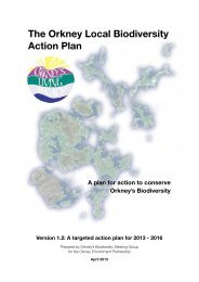 Orkney Local Biodiversity Action Plan 2013-2016 - Orkney Islands ...