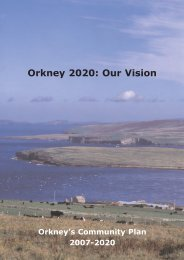 Orkney's Community Plan 2007-2020 - Orkney Islands Council
