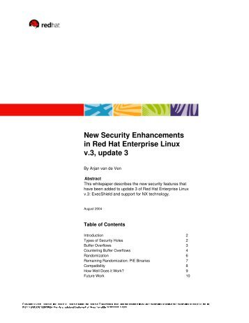 New Security Enhancements in Red Hat Enterprise Linux v.3, update 3