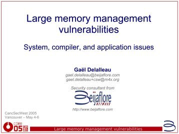 Large memory management vulnerabilities - felinemenace.org