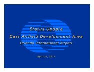 Presentation - April 21, 2011 - Orlando International Airport
