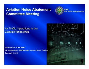 Noise Presentation - August 18, 2011 - Orlando International Airport