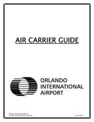 Air Carrier Guide - Orlando International Airport
