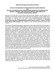 Greater orlando aviation authority notice of - Orlando International ...