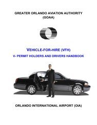 VEHICLE-FOR-HIRE (VFH) - Orlando International Airport