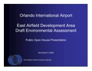 Orlando International Airport East Airfield Development Area Draft ...