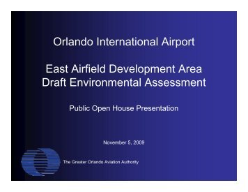 Orlando International Airport East Airfield Development Area Draft ...