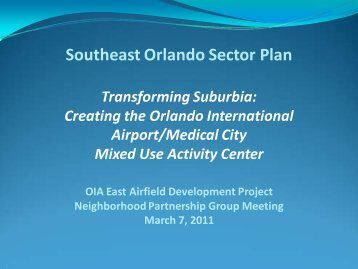 Southeast Orlando Sector Plan - Orlando International Airport