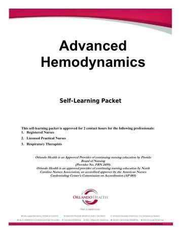 Advanced Hemodynamics Self-Learning Packet - Orlando Health