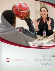 Download our Guide to Rehabilitation Services - Orlando Health