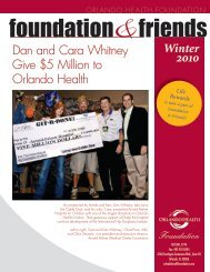 Dan and Cara Whitney Give $5 Million to Orlando Health Winter 2010