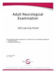 Adult Neurological Examination Self-Learning Packet - Orlando Health