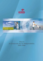 Report on Corporate Social Responsibility 2005-2006 - PKN Orlen