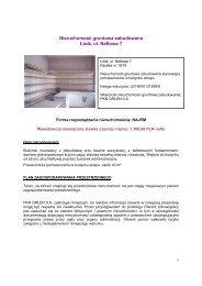 Prezentacja nieruchomości - PKN Orlen