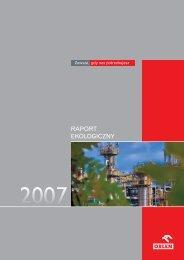 Raport Ekologiczny 2007 - PKN Orlen