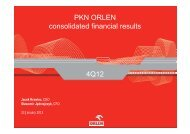 PKN ORLEN consolidated financial results 4Q12