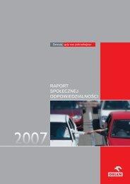 Raport Społecznej Odpowiedzialności 2007 - PKN Orlen