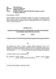 Projekty uchwał - PKN Orlen