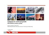 Catalysts for continued growth - PKN Orlen