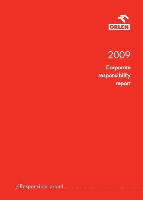 Corporate responsibility report / Responsible brand - PKN Orlen