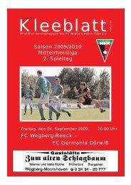 Ausgabe 2.qxd - FC Wegberg-Beeck 1920 e.V.