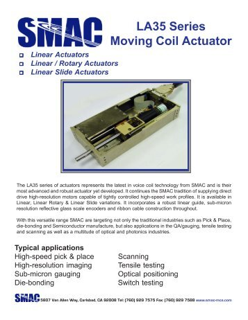 LA35 series linear actuator - ORLIN Technologies Ltd