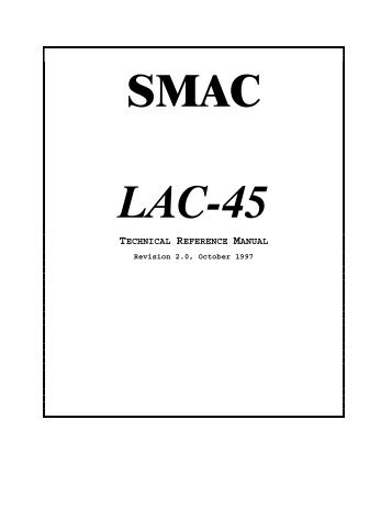LAC-45 four axis controller manual