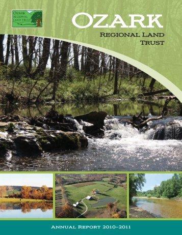 2010-2011 Annual Report - Ozark Regional Land Trust