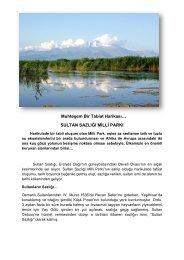 SULTAN SAZLIĞI MİLLİ PARKI - Orman ve Su İşleri Bakanlığı