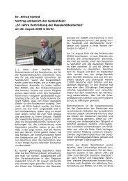 """Dr. Alfred Eisfeld Vortrag anlässlich der Gedenkfeier """"67 ... - ORNIS"""