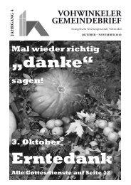 VOHWINKELER GEMEINDEBRIEF - Evangelische ...