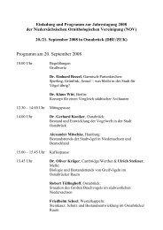 Programm am 20. September 2008 - Niedersächsische ...