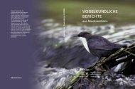 Umschlag 38.qxd - Niedersächsische Ornithologische Vereinigung eV