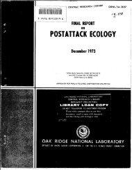 Final report on postattack ecology - Oak Ridge National Laboratory