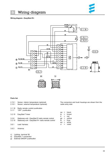 6 Wiring diagram Wiring d on