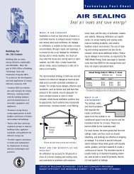 Air Sealing: Seal Air Leaks and Save Energy