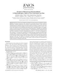 Pyrolysis of Mesoporous Silica-Immobilized 1,3-Diphenylpropane ...