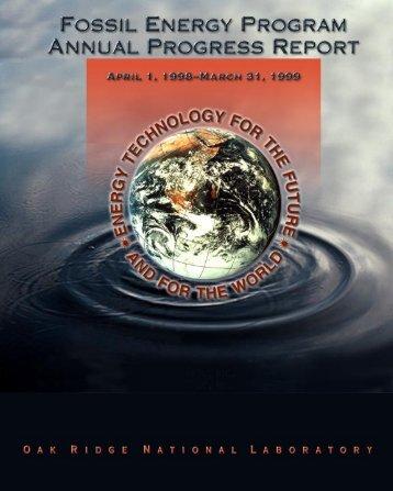 Fossil Energy - Oak Ridge National Laboratory