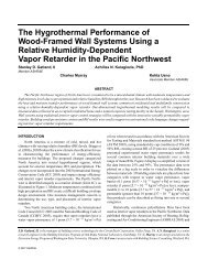 The Hygrothermal Performance of Wood-Framed Wall Systems ...