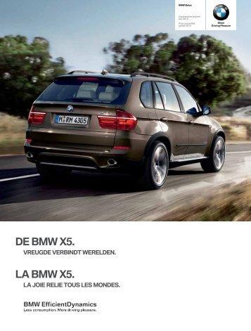 De BMW X5. lA BMW X5. - BMW België