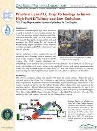 Practical Lean NOx Trap Technology Achieves High Fuel Efficiency ...
