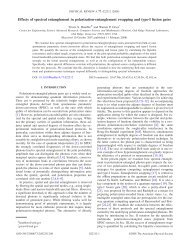 Effects of spectral entanglement in polarization-entanglement ...