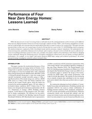 Performance of Four Near Zero Energy Homes: Lessons Learned