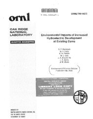 Environmental impacts of increased hydroelectric development at ...