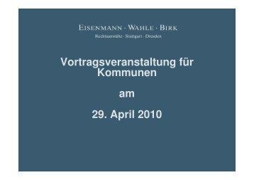 2 S 2938/08 - Eisenmann Wahle Birk . Rechtsanwälte . Stuttgart ...