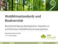 Präsentation Waldklimastandards und Biodiversität - OroVerde