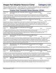 Trauma/Post Traumatic Stress Disorder (PTSD) - Oregon Post ...