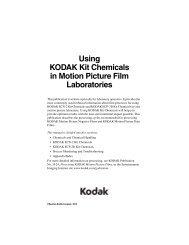 Using KODAK Kit Chemicals in Motion Picture Film Laboratories