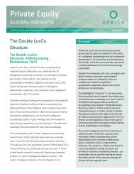 PE Newsletter The Double LuxCo Structure (August 2011)